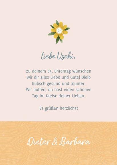 Glückwunschkarte Blumenstrauß 3