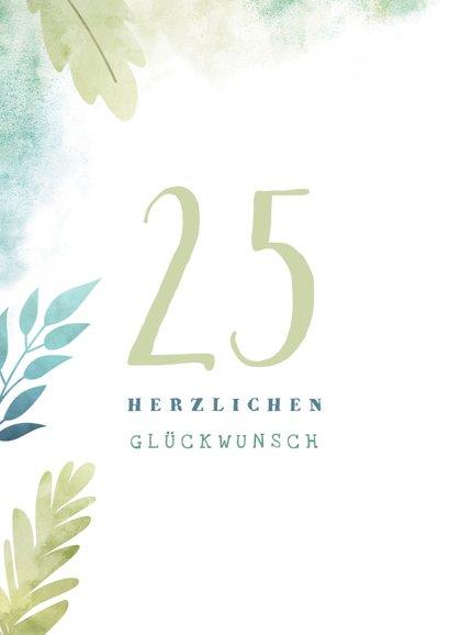 Glückwunschkarte botanisch mit austauschbarer Jahrzahl 2