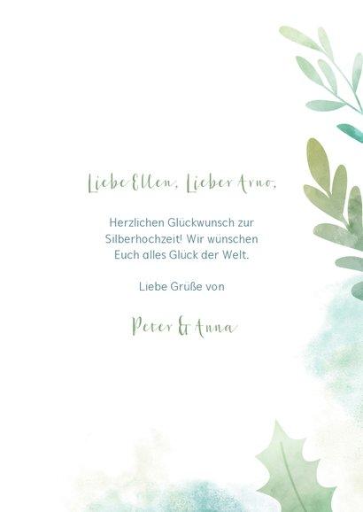 Glückwunschkarte botanisch mit austauschbarer Jahrzahl 3