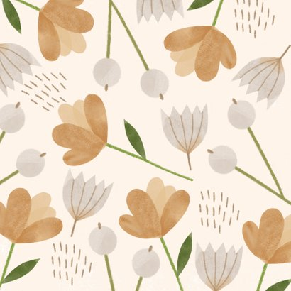 Glückwunschkarte Braune Blumen 2