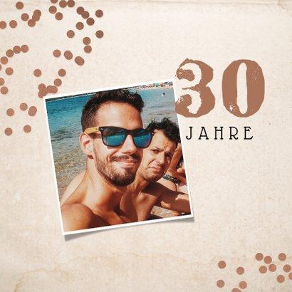 Glückwunschkarte 'Congrats Mate' Mustache & Konfetti 2