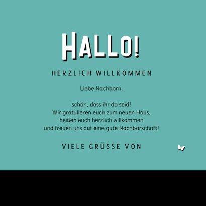 Glückwunschkarte Einzug 'Hallo Nachbarn' 3