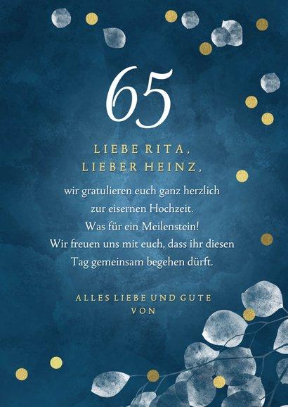 Glückwunschkarte Eiserne Hochzeit 3