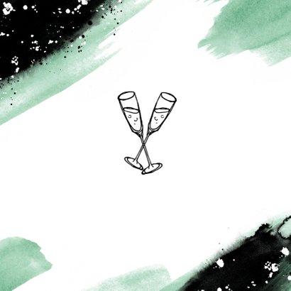 Glückwunschkarte Farbstreifen 'You did it' 2