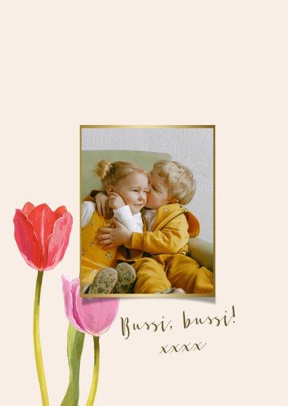 Glückwunschkarte Frühlingsblumen Geburtstag  2