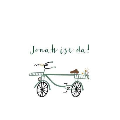 Glückwunschkarte Geburt Junge Fahrrad 2