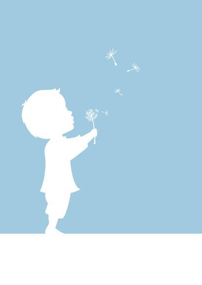 Glückwunschkarte Geburt Junge mit Pusteblume 2