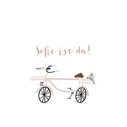 Glückwunschkarte Geburt Mädchen Fahrrad 2