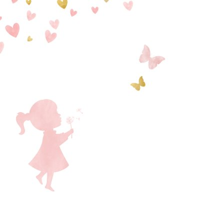 Glückwunschkarte Geburt Mädchen Scherenschnitt 2