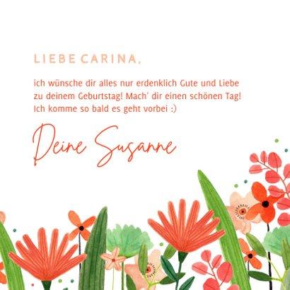 Glückwunschkarte Geburtstag Blumenwiese 3