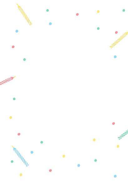 Glückwunschkarte Geburtstag bunte Kerzen 2