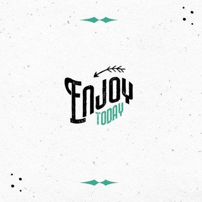 Glückwunschkarte Geburtstag Cheers typografie 2