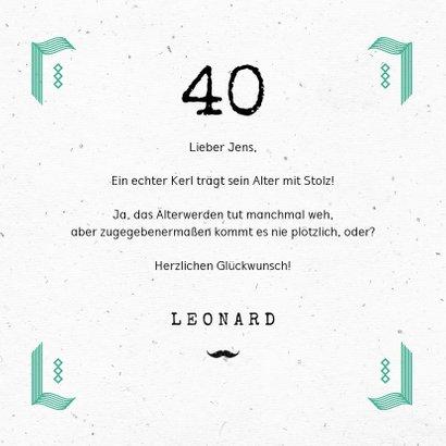 Glückwunschkarte Geburtstag Cheers typografie 3