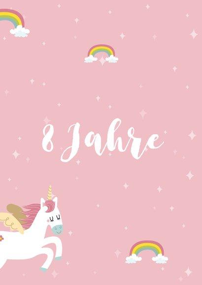 Glückwunschkarte Geburtstag Einhörner und Regenbogen 2