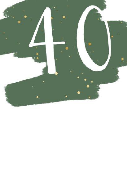 Glückwunschkarte Geburtstag grün Farbklecks & Fotos 2