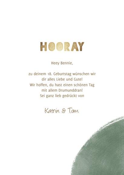 Glückwunschkarte Geburtstag Hooray mit Fotos 3