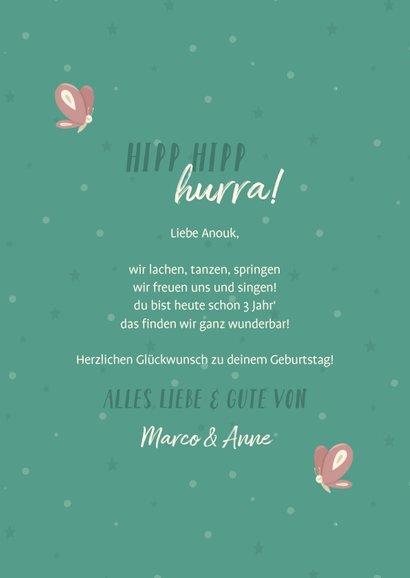 Glückwunschkarte Geburtstag kleines Einhorn 3
