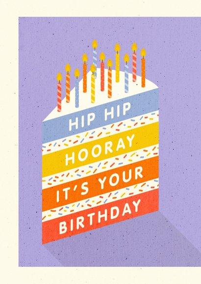 Glückwunschkarte Geburtstag Kuchen mit Kerzen 2