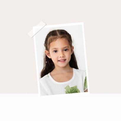 Glückwunschkarte Geburtstag Mädchen mit Foto und Herzen 2