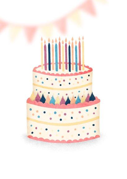 Glückwunschkarte Geburtstag Torte mit Kerzen 2