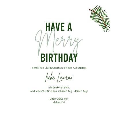 Glückwunschkarte Geburtstag Weihnachten 3