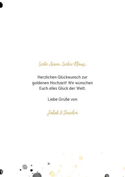 Glückwunschkarte Goldene Hochzeit 50 3