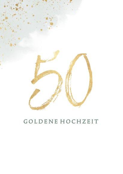 Glückwunschkarte Goldene Hochzeit Eukalyptus 2