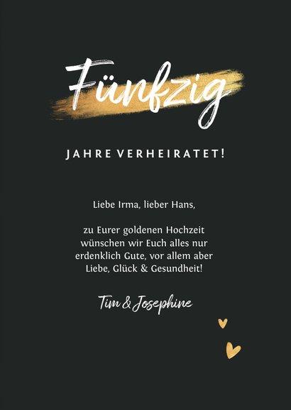 Glückwunschkarte goldene Hochzeit Stillleben 3
