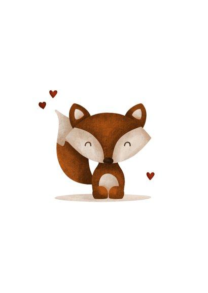 Glückwunschkarte 'Hallo' mit Fuchs 2
