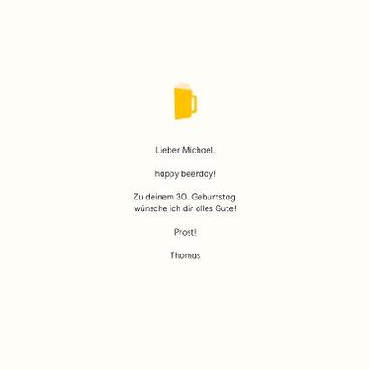 Glückwunschkarte Happy Beerday 3