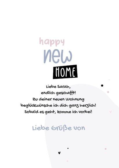 Glückwunschkarte 'Happy new Home' zum Einzug 3