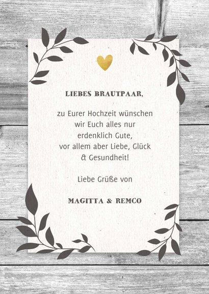 Glückwunschkarte Hochzeit Mr. & Mr. Holzlook 3