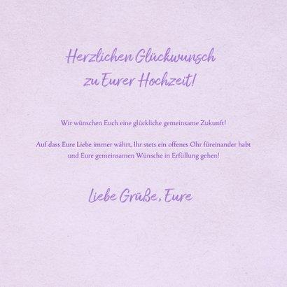 Glückwunschkarte Hochzeit Papercut und Lettering 3