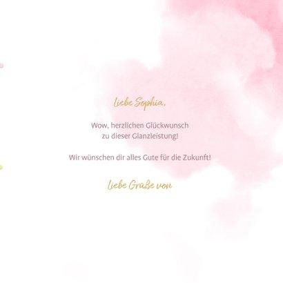 Glückwunschkarte 'Hooray' Folienballons rosa 3