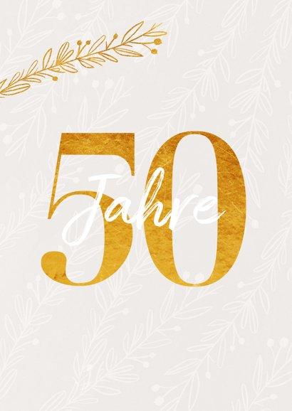 Glückwunschkarte Jubiläum oder Geburtstag 50 2