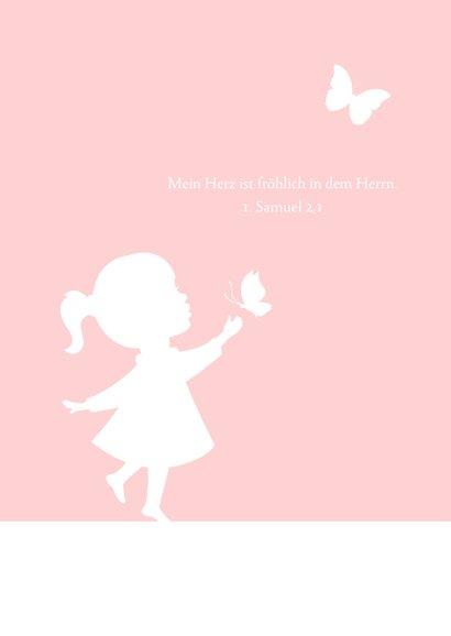 Glückwunschkarte Kommunion Mädchen Silhouette 2