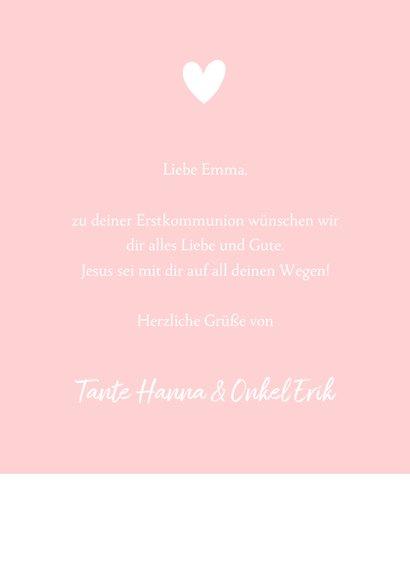 Glückwunschkarte Kommunion Mädchen Silhouette 3