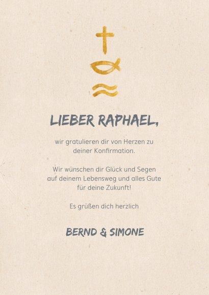 Glückwunschkarte Konfirmation christliche Symbole 3