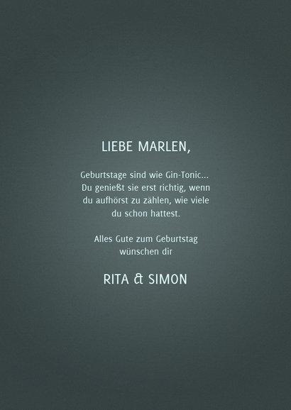 Glückwunschkarte 'let your birthday be-gin' 3
