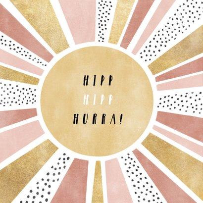 Glückwunschkarte Mädchen Sonnenstrahlen und Punkte 2