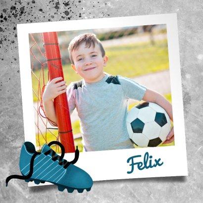 Glückwunschkarte mit Foto für Fußballfan 2