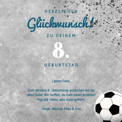 Glückwunschkarte mit Foto für Fußballfan 3