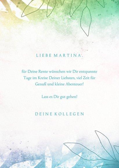 Glückwunschkarte Rente 'Live in the Moment' 3