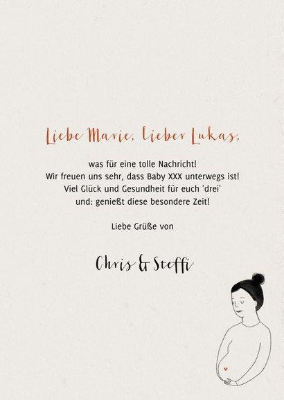 Glückwunschkarte schwanger 'Baby on the way' 3