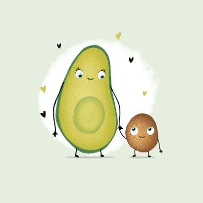 Glückwunschkarte Schwangerschaft Kribbeln im Bauch Avocado 2