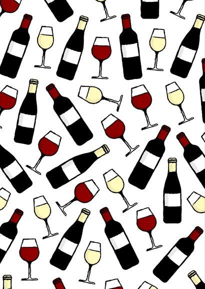Glückwunschkarte 'Sip Sip Hooray' mit Weinflaschen 2