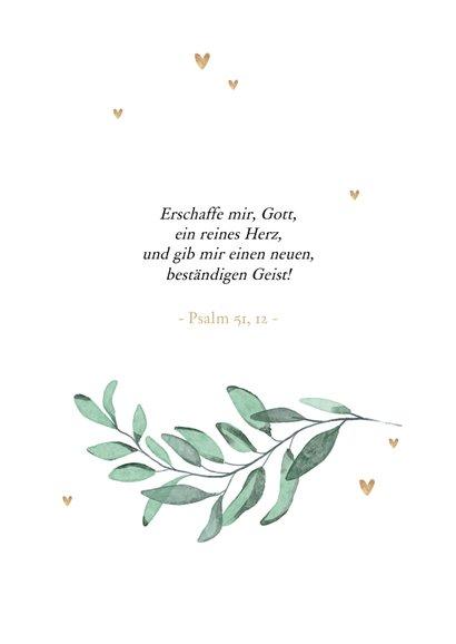 Glückwunschkarte Taufe Zweige & Herzen 2