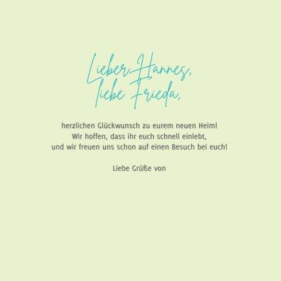 Glückwunschkarte Umzug 'Home sweet home' 3