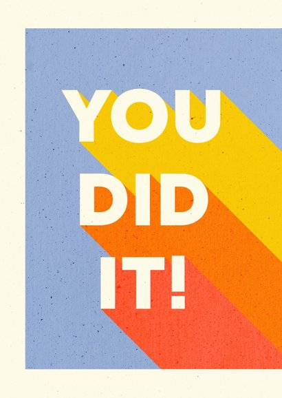 Glückwunschkarte 'You did it' bunt 2