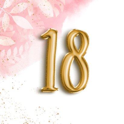 Glückwunschkarte zum 18. Geburtstag Folienballon 2